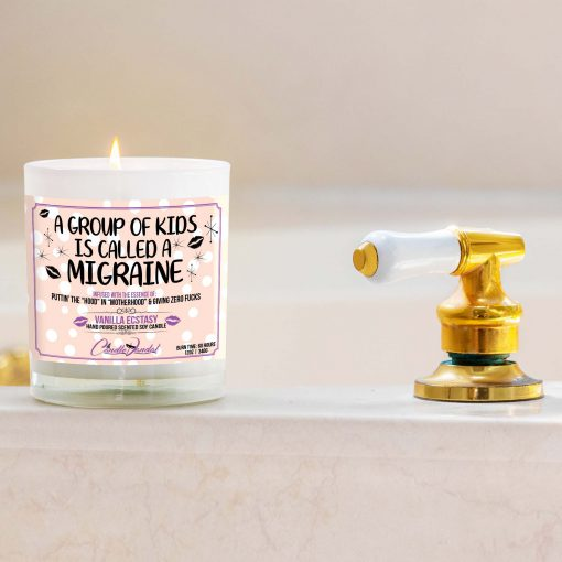 A Group of Kids is Called a Migrane Bathtub Candle