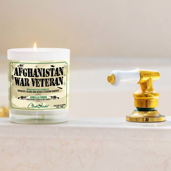 Afghanistan War Veteran Bathtub Candle