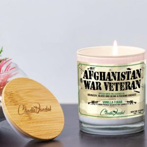 Afghanistan War Veteran Lid and Candle