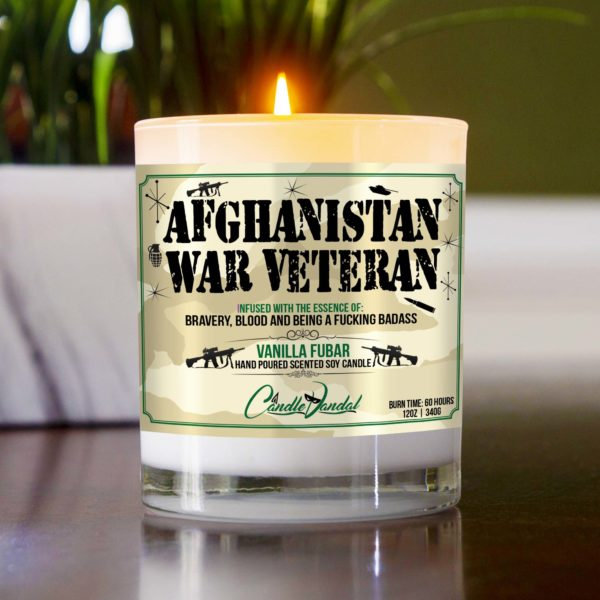 Afghanistan War Veteran Table Candle