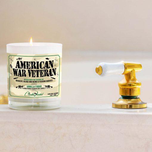 American War Veteran Bathtub Candle