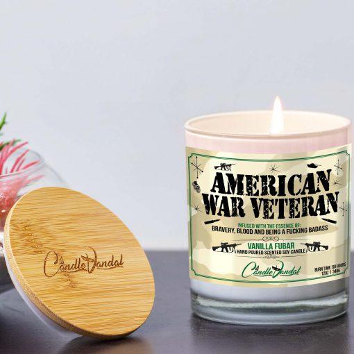 American War Veteran Lid and Candle