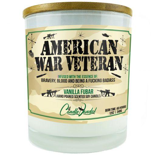 American War Veteran Candle