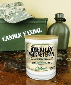 American War Veteran Military Candle