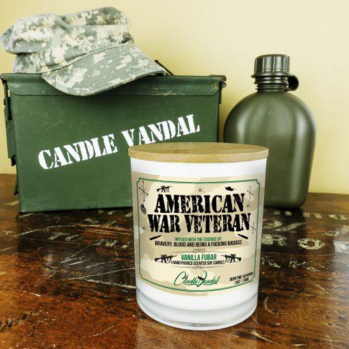 American War Veteran Military Candle