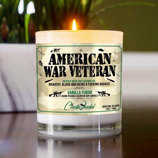American War Veteran Table Candle