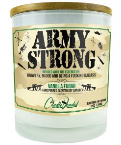 Army Strong Candle
