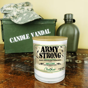 Army Strong Military Candle