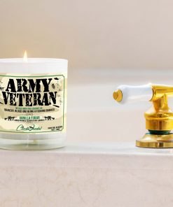 Army Veteran Bathtub Candle