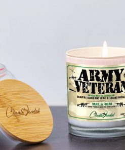 Army Veteran Lid and Candle