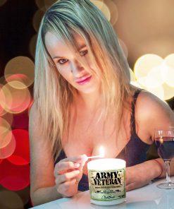 Army Veteran Lighting Candle