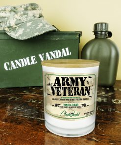 Army Veteran Military Candle