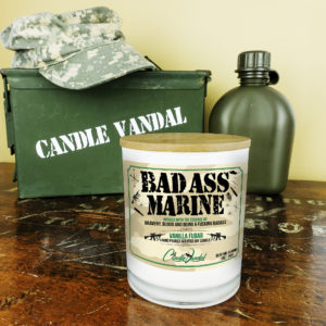 Bad Ass Marine Military Candle