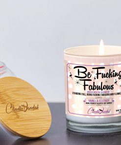 Be Fucking Fabulous Lid and Candle