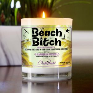 Beach Bitch Table Candle