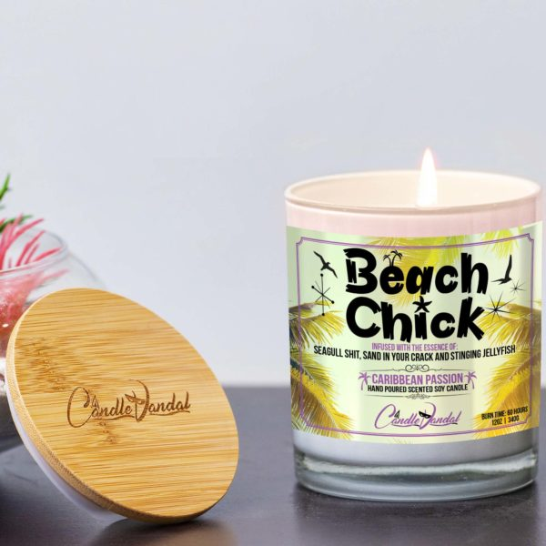 Beach Chick Lid and Candle