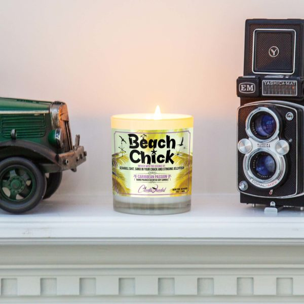 Beach Chick Mantle Candle
