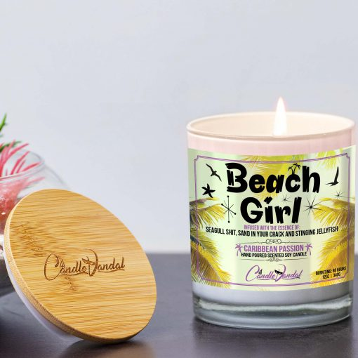 Beach Girl Lid and Candle