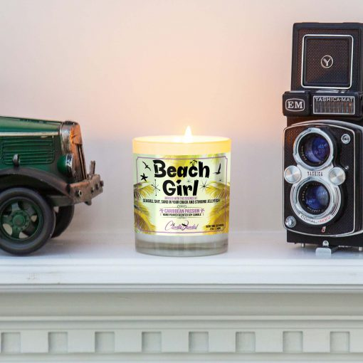 Beach Girl Mantle Candle