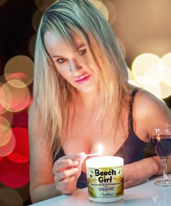 Beach Girl Lighting Candle