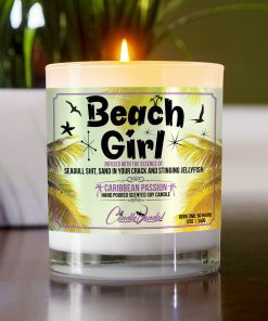 Beach Girl Table Candle