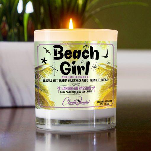 Beach Girl Table Candle