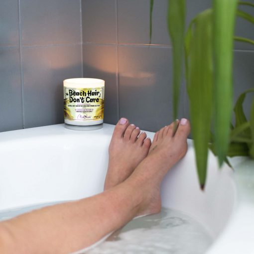 Beach Hair Don't Care Bathtub Candle