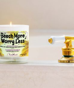 Beach More Wory Less Bathtub Candle