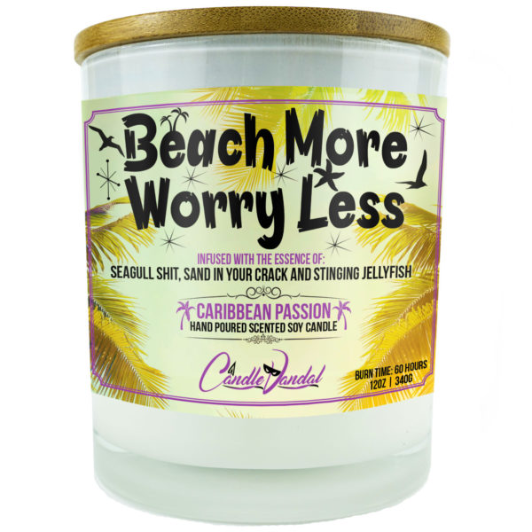 Beach More Worry Less Candle
