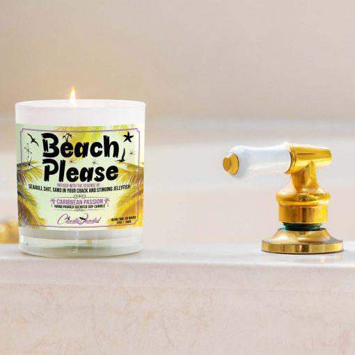 Beach Please Bathroom Candle
