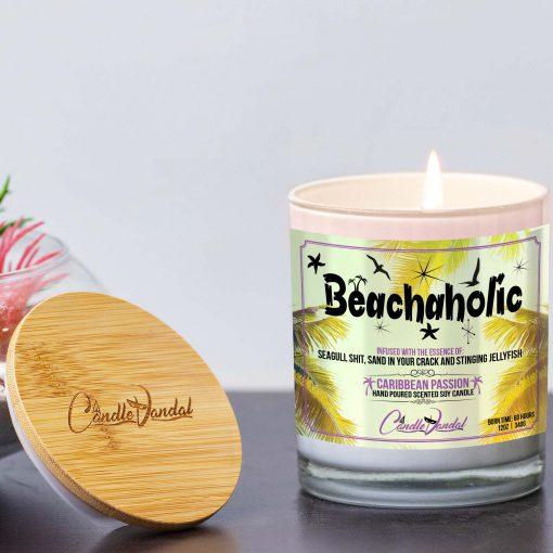 Beachaholic Lid and Candle