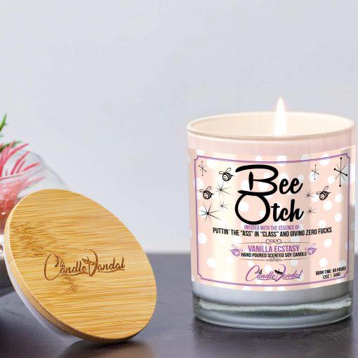 Bee Otch Lid and Candle