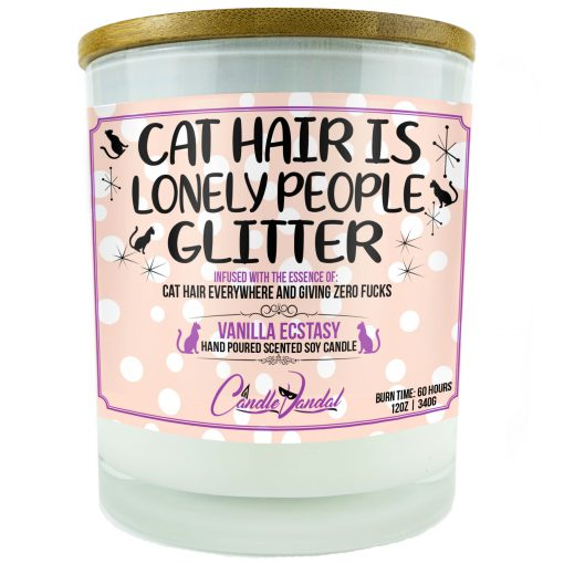 Cat Hair is Lonely People Glitter Candle