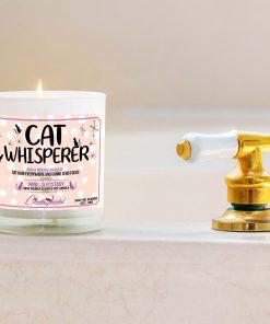 Cat Whisperer Bathtub Candle