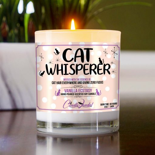 Cat Whisperer Table Candle