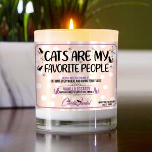Cats Are My Favorite People Table Candle