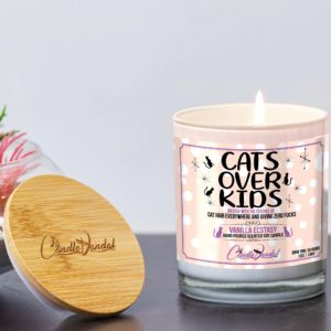 Cats Over Kids Lid and Candle