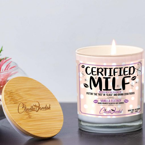 Certified MILF Candle Lid and Candle