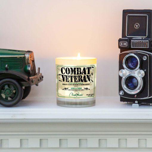 Combat Veteran Mantle Candle