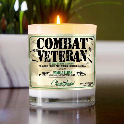 Combat Veteran Table Candle
