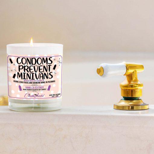 Condoms Prevent Minivans Bathtub Candle