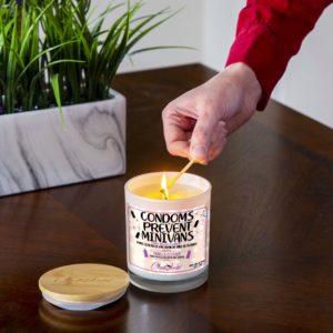 Condoms Prevent Minivans Lighting Candle