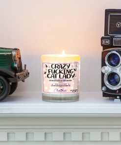 Crazy Fucking Cat Lady Mantle Candle
