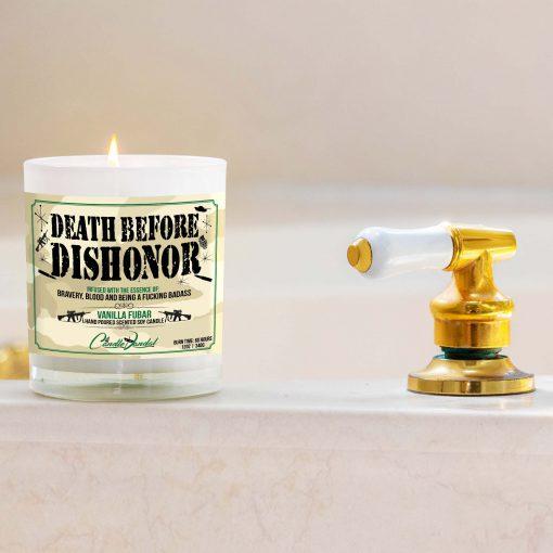 Death Before Dishonor Military Bathtub Candle