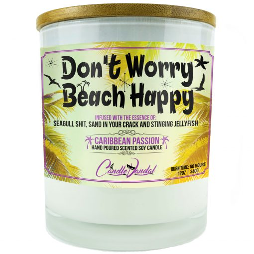 Don't Worry Beach Happy Candle