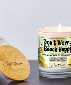 Don't Worry Beach Happy Lid and Candle