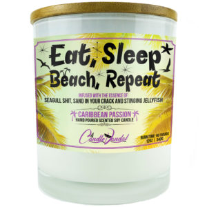 Eat Sleep Beach Repeat Candle