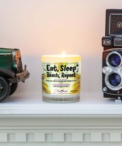 Eat Sleep Beach Repeat Mantle Candle