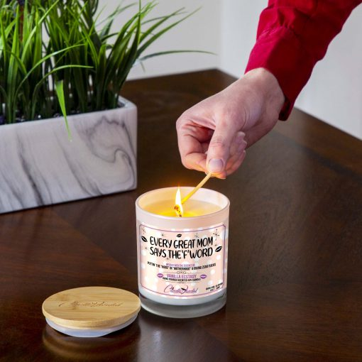 Every Great Mom Says The 'F' Word Lighting Candle