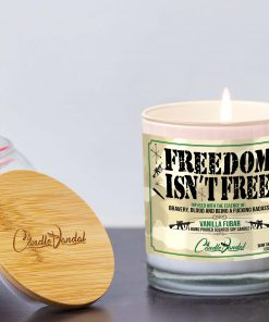 Freedom Isn't Free Lid and Candle
